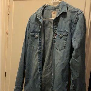 Denim Blue button down shirt